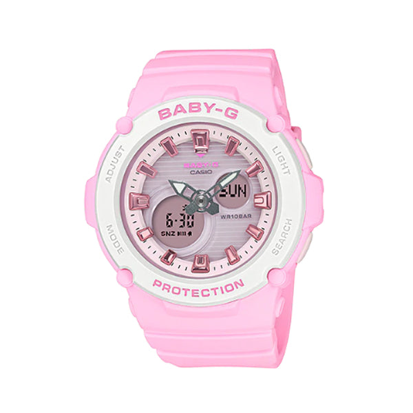 Casio Baby-G BGA270 Series in Pastel Colours Pink Resin Band Watch BGA270-4A BGA-270-4A