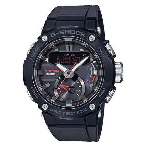 Casio G-Shock G-Steel Carbon Core Guard Structure Black Resin Band Watch GSTB200B-1A GST-B200B-1A | Watchspree
