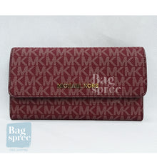 Load image into Gallery viewer, Michael Kors Jet Set Travel Large Logo Trifold Wallet Red 35F8GTVF3B OXBLOOD