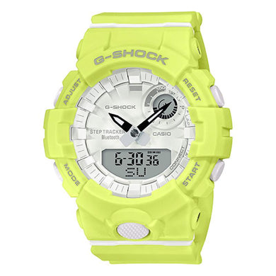 Casio G-Shock S Series G-Squad Bluetooth¨ Yellow Resin Band Watch GMAB800-9A GMA-B800-9A