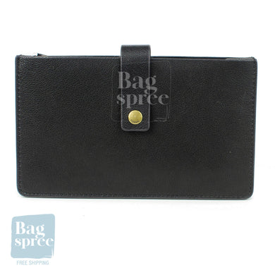 Fossil Vale Medium Tab Black Leather Wallet Black SL7556001