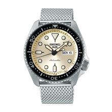Load image into Gallery viewer, Seiko 5 Sports Automatic Silver Stainless Steel Mesh Band Watch SRPE75K1