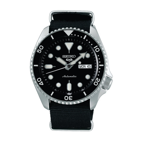 Seiko 5 Sports Automatic Black Nylon Strap Watch SRPD55K3