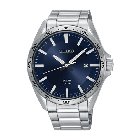 Seiko Solar Silver Stainless Steel Band Watch SNE483P1 | Watchspree