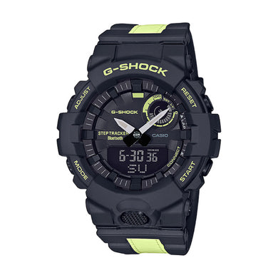 Casio G-Shock G-SQUAD Bluetooth¨ GBA-800 Series Black Resin Band Watch GBA800LU-1A1 GBA-800LU-1A1