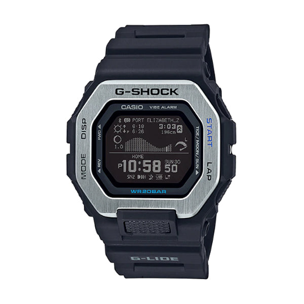 Casio G-Shock G-LIDE lineup Black Resin Band Watch GBX100-1D GBX-100-1