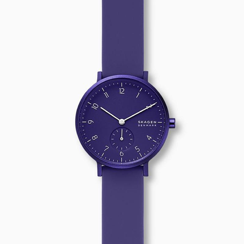 Skagen Aaren Kulor Purple Silicone 36mm Watch SKW2802