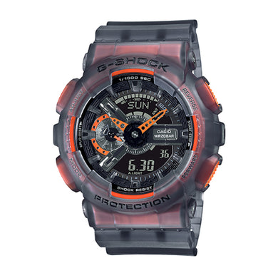 Casio G-Shock GA-110 Lineup Special Colour Model Black Semi-Transparent Resin Band Watch GA110LS-1A GA-110LS-1A
