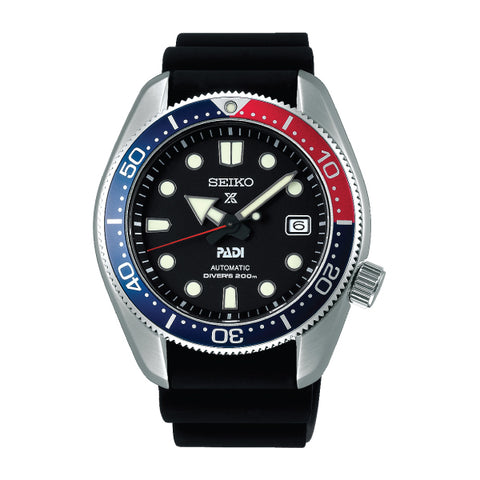 Seiko Prospex and PADI (Japan Made) Automatic Special Edition Black Silicon Strap Watch SPB087J1 | Watchspree