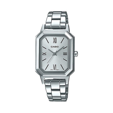 Casio Ladies' Analog Stainless Steel Band Watch LTPE168D-7B LTP-E168D-7B