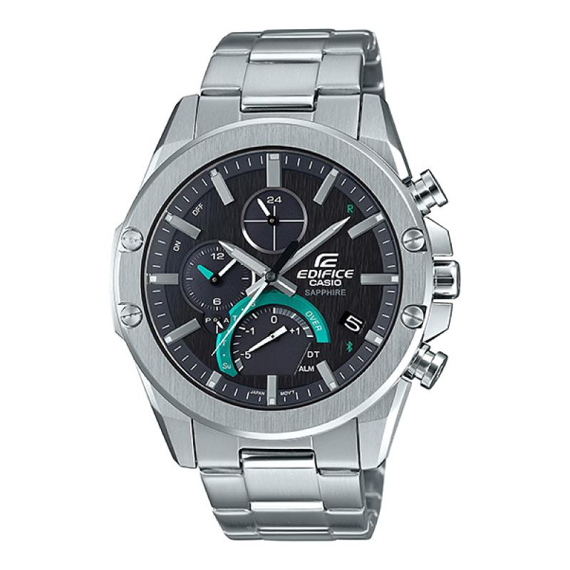 Casio Edifice Smartphone Link Lineup Silver Stainless Steel Band Watch EQB1000D-1A EQB-1000D-1A
