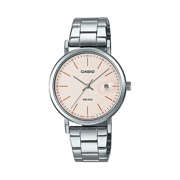 Casio Ladies' Analog Silver Stainless Steel Band Watch LTPE175D-4E LTP-E175D-4E