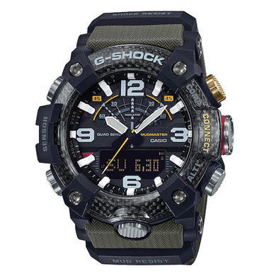 Casio G-Shock Master Of G Series Mudmaster Green Resin Band Watch GGB100-1A3 GG-B100-1A3