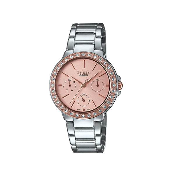 Casio Sheen with Swarovski® Crystals Stainless Steel Band Watch SHE3069SG-4A SHE-3069SG-4A