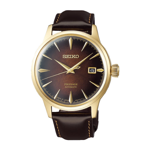 Seiko Presage (Japan Made) Automatic Limited Edition Dark Brown Calfskin Leather Strap Watch SRPD36J1 | Watchspree