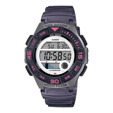 Casio Ladies' Sports Grey Resin Band Watch LWS1100H-8A LWS-1100H-8A | Watchspree