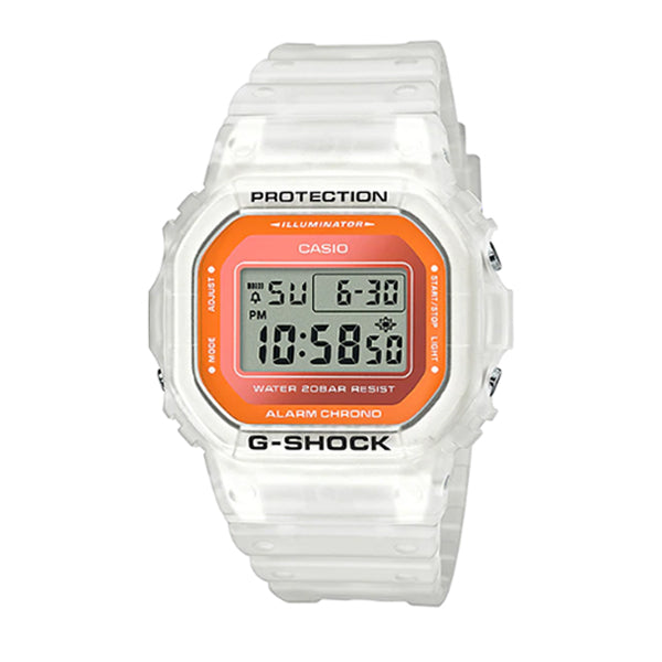 Casio G-Shock DW-5600 Lineup Special Colour Model White Semi-Transparent Resin Band Watch DW5600LS-7D DW-5600LS-7