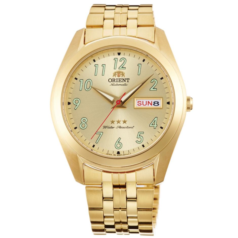 Orient Men's TriStar Automatic Gold Stainless Steel Strap Watch RA-AB0036G19B  | Watchspree