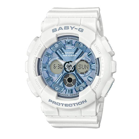 Casio Baby-G Standard Analog-Digital BA-130 Series White Resin Band Watch BA130-7A2 BA-130-7A2 | Watchspree