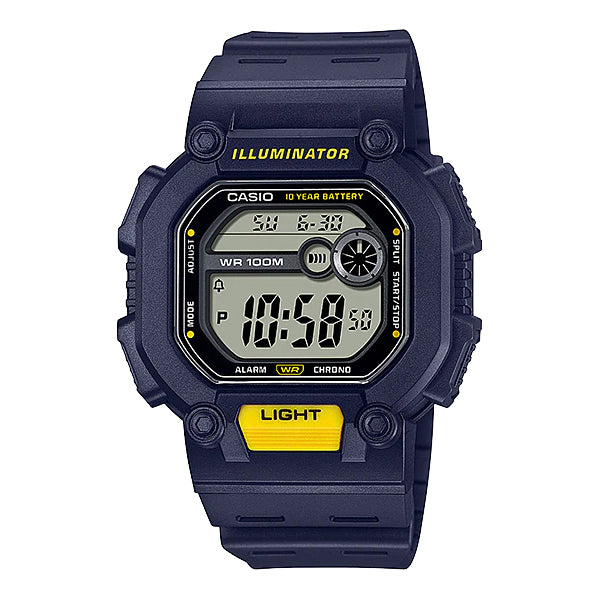 Casio Digital Blue Resin Band Watch W737H-2A W-737H-2A
