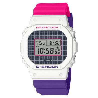 Casio G-Shock DW-5600 Lineup Special Color Models Purple and Pink Resin Band Watch DW5600THB-7D DW-5600THB-7D DW-5600THB-7