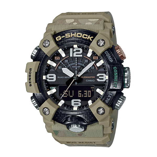 Casio G-Shock Master of G Mudmaster British Army Collaboration Model Camouflage Pattern Resin Band Watch GGB100BA-1A GG-B100BA-1A