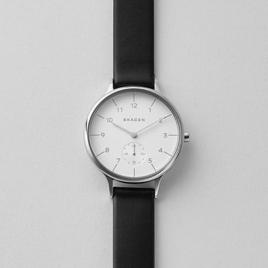 Skagen Ladies' Anita Sub-Eye Leather Watch SKW2415