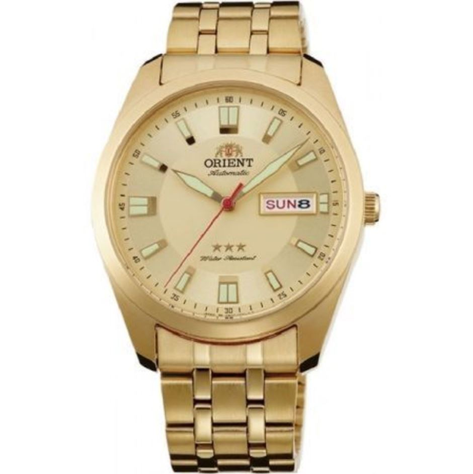 Orient Men's TriStar Automatic Gold Stainless Steel Strap Watch RA-AB0009G19B  | Watchspree