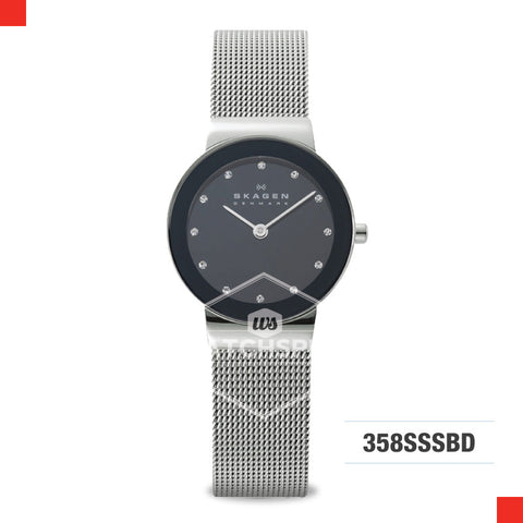 Skagen Ladies Freja Silver Steel Mesh Watch 358SSSBD