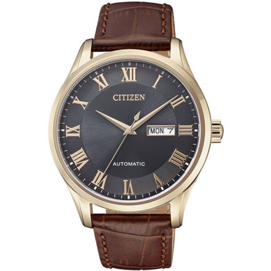 Citizen Men's Quartz Brown Leather Strap Watch NH8363-14H