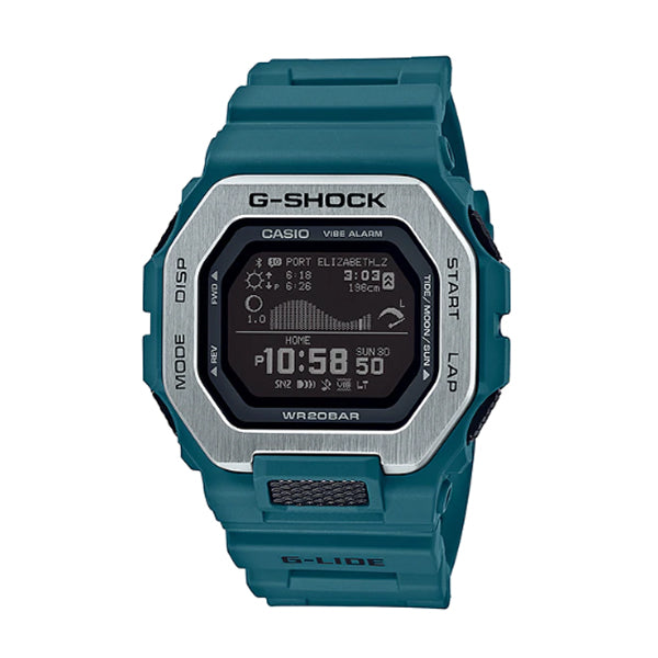 Casio G-Shock G-LIDE lineup Blue Resin Band Watch GBX100-2D GBX-100-2