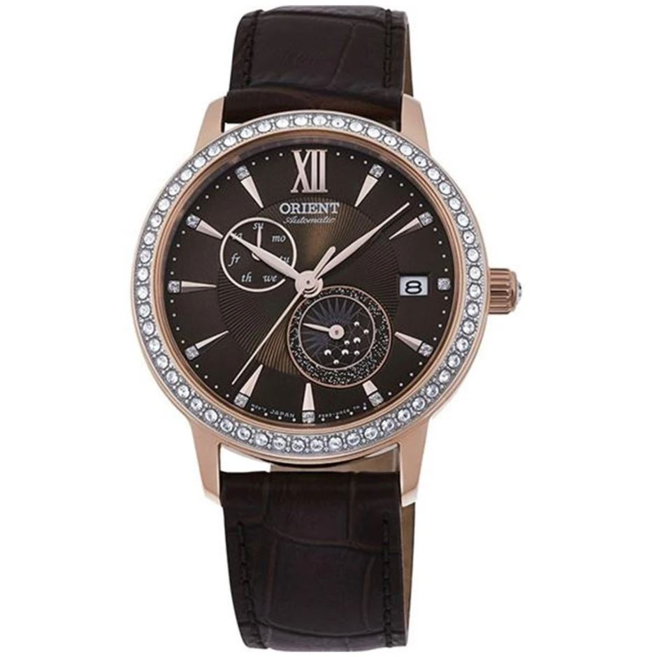 Orient Ladies' Automatic Brown Leather Strap Watch RA-AK0005Y10B  | Watchspree