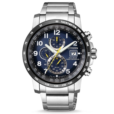 Citizen Eco-Drive Chronograph Stainless Steel Band Watch AT8124-91L