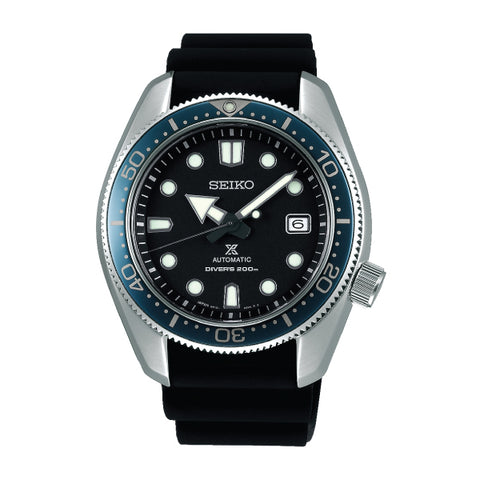 Seiko Prospex (Japan Made) Air Diver's Sea Series Automatic Black Silicone Strap Watch SPB079J1