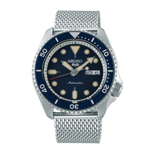 Load image into Gallery viewer, Seiko 5 Sports Automatic Silver Stainless Steel Mesh Band Watch SRPD71K1