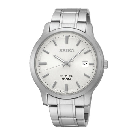 Seiko Neo Classic Quartz Silver Stainless Steel Band Watch SGEH39P1 | Watchspree