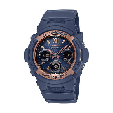 Casio G-Shock AWR-M100 Lineup Special Color Models Navy Blue Resin Band Watch AWRM100SNR-2A AWR-M100SNR-2A
