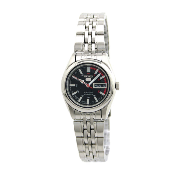 Seiko 5 Women's (Japan Made) Automatic Silver Stainless Steel Band Watch SYMA43J1