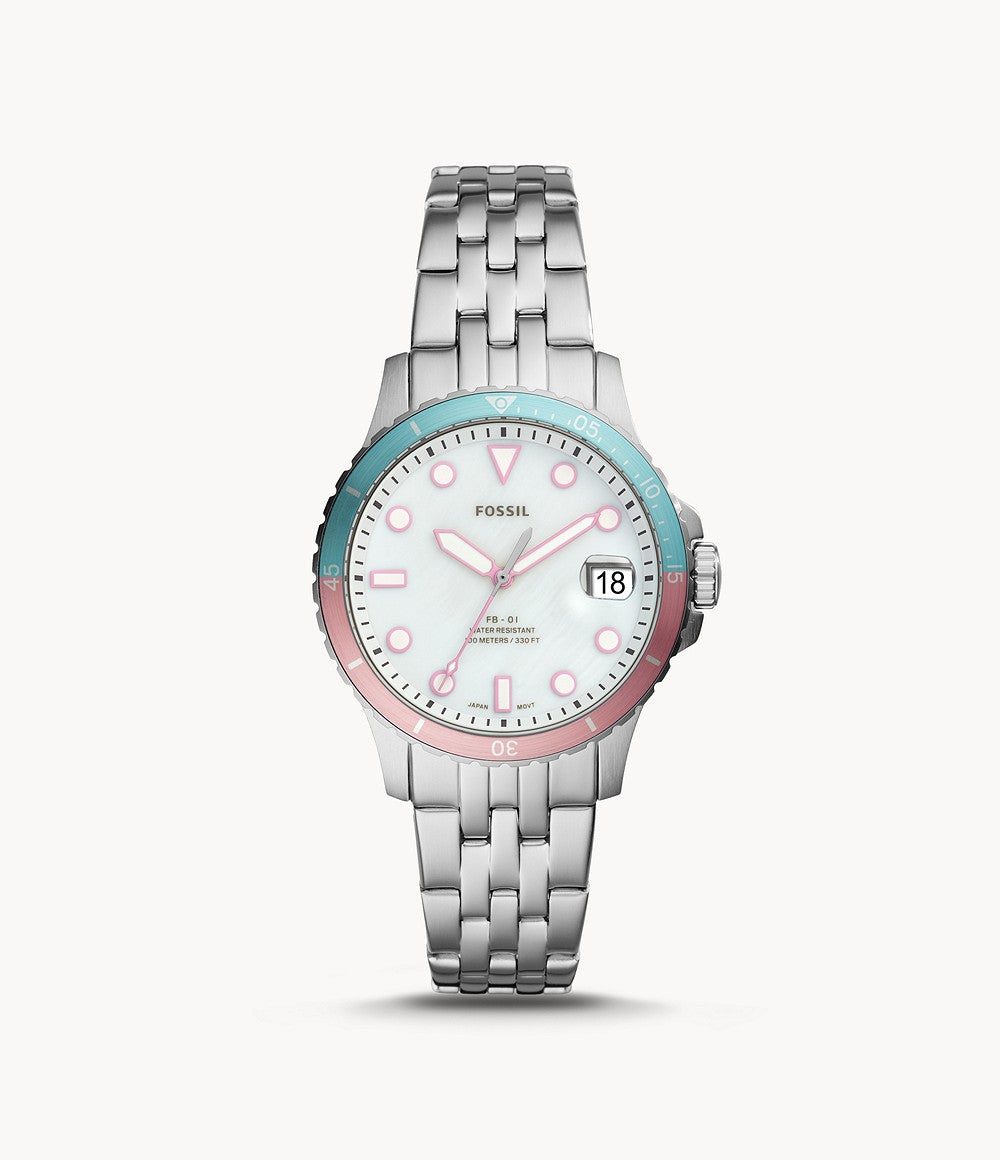 Fossil Ladies' FB-01 Three-Hand Date Stainless Steel Watch ES4741