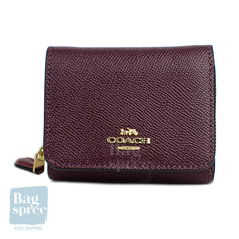 Coach Small Trifold Wallet Red, Purple F87760 IMPGP