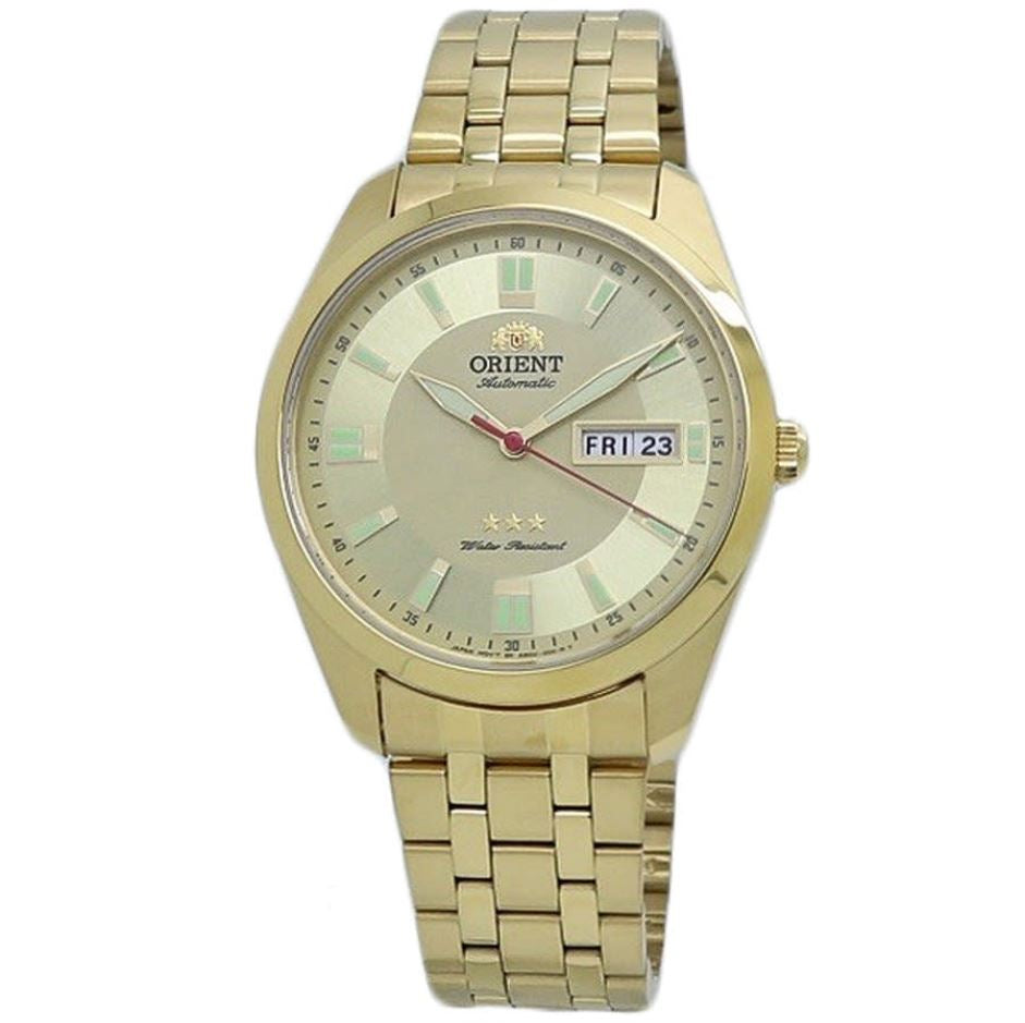 Orient Men's TriStar Automatic Gold Stainless Steel Strap Watch RA-AB0016G19B  | Watchspree