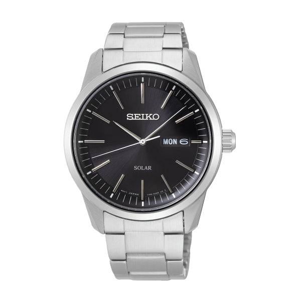 Seiko Solar Silver Stainless Steel Band Watch SNE527P1 | Watchspree