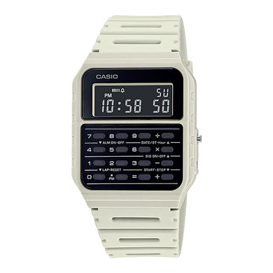 Casio Data Bank Calculator Off-White Resin Band Watch CA53WF-8B CA-53WF-8B