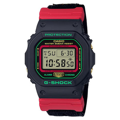 Casio G-Shock DW-5600 Lineup Special Color Models Black Cloth Band Watch DW5600THC-1D DW-5600THC-1D DW-5600THC-1