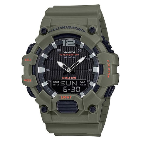 Casio Men's Analog-Digital Combination Green Resin Band Watch HDC700-3A2 HDC700-3A2 | Watchspree