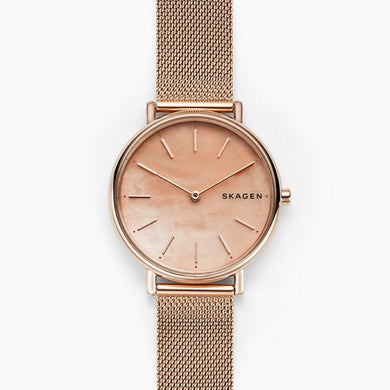 Skagen Ladies' Signature Slim Rose Gold Tone Steel Mesh Watch SKW2732