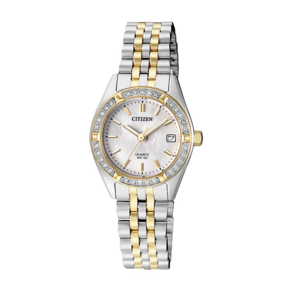 Citizen Ladies' Quartz Two Tone Stainless Steel Watch EU6064-54D
