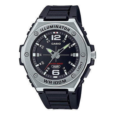 Casio Analog Black Resin Band Watch MWA100H-1A MWA-100H-1A