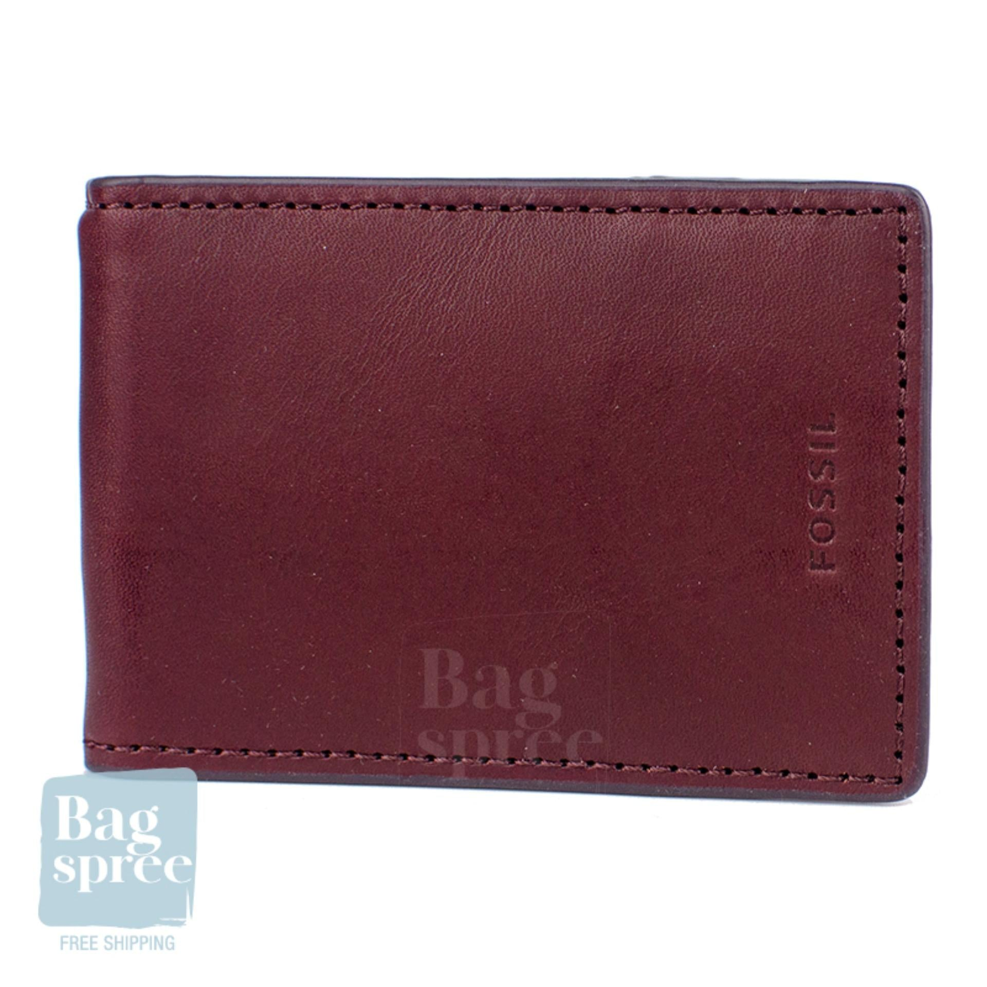 Fossil Men's Leather Wallet Red, Brown ML3848609