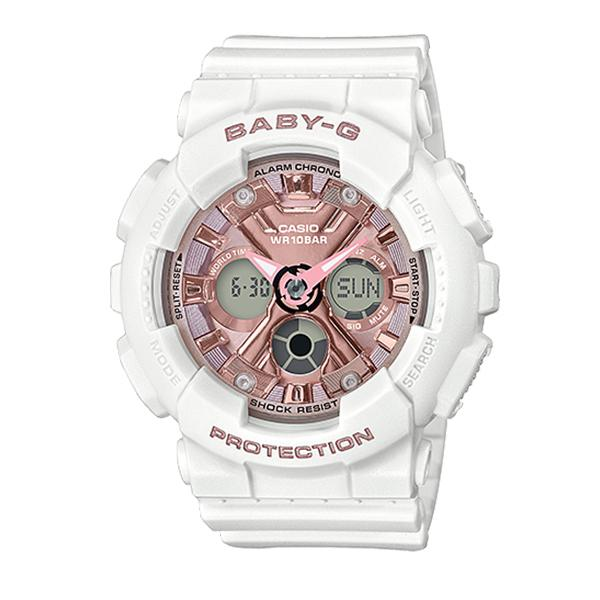 Casio Baby-G Standard Analog-Digital BA-130 Series White Resin Band Watch BA130-7A1 BA-130-7A1 | Watchspree